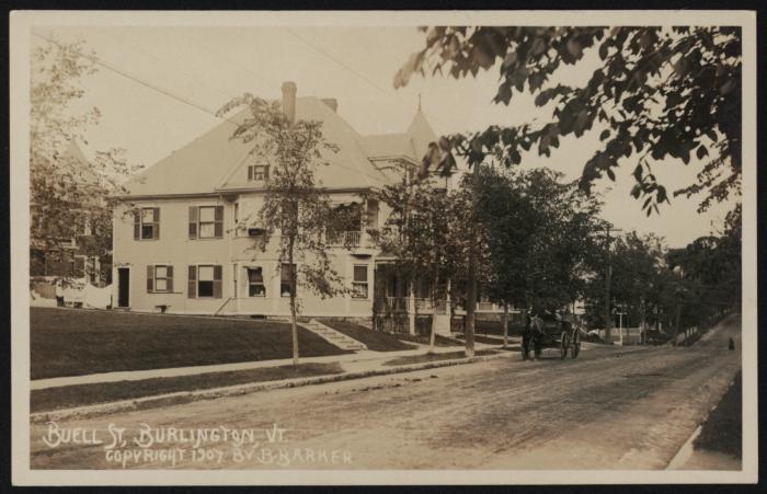 Buell St, Burlington. Vt.