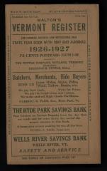 Walton's Vermont Register: State Year Book 1926-1927