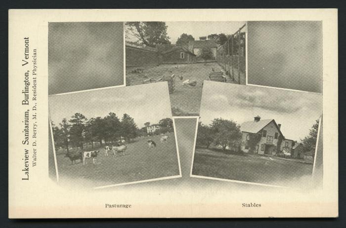 Lakeview Sanitarium, Burlington, Vermont, Pasturage Stables