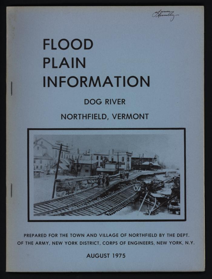 Flood Plain Information: Dog River Northfield, Vermont